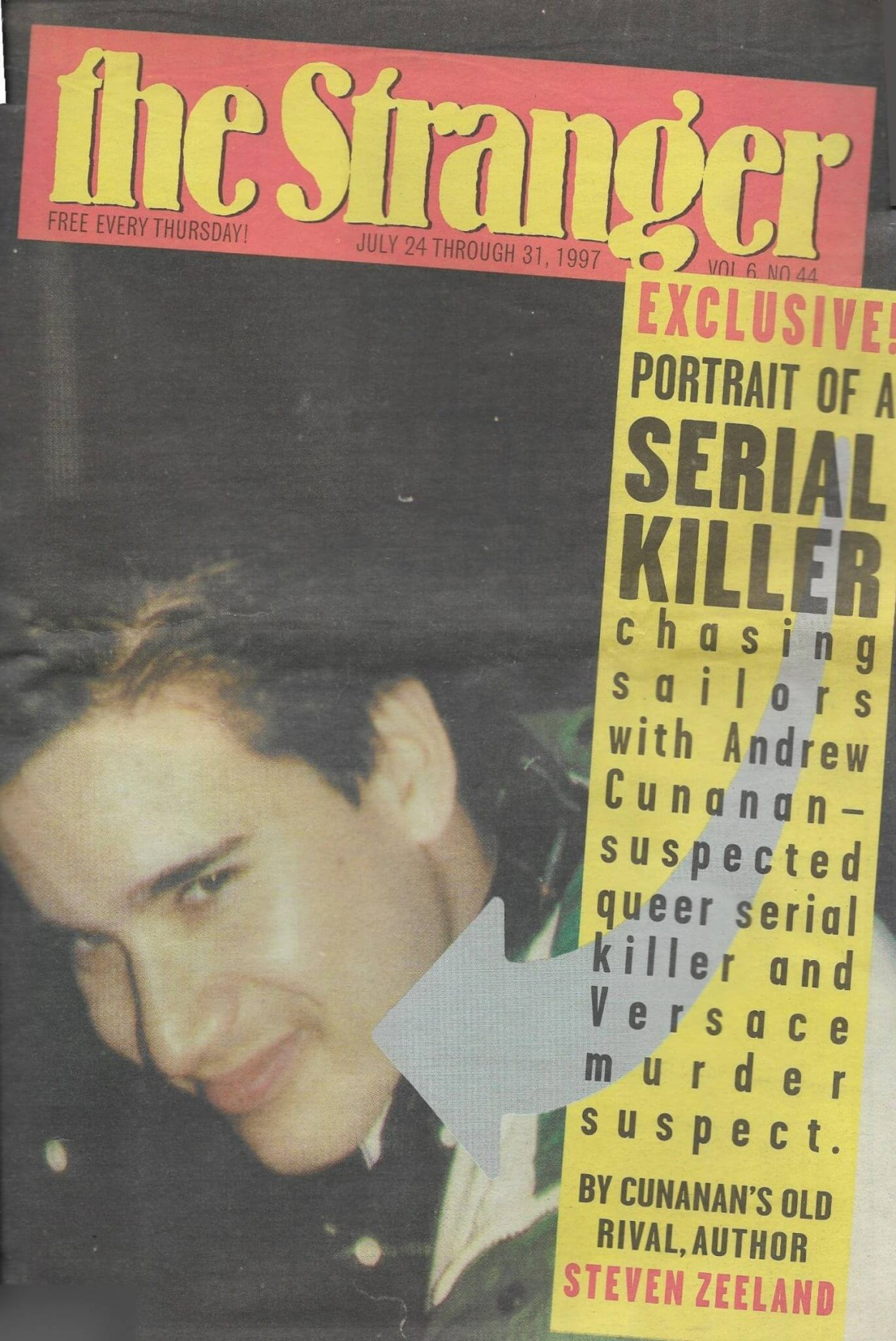 Exclusive! Portrait of a Serial Killer - cover story by Steven Zeeland published in The Stranger, July 24-31, 1997