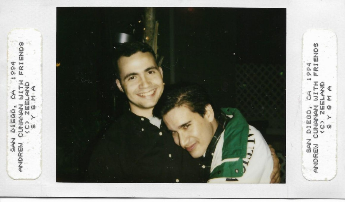Andrew Cunanan with Jay – photographed by Jeff Trail